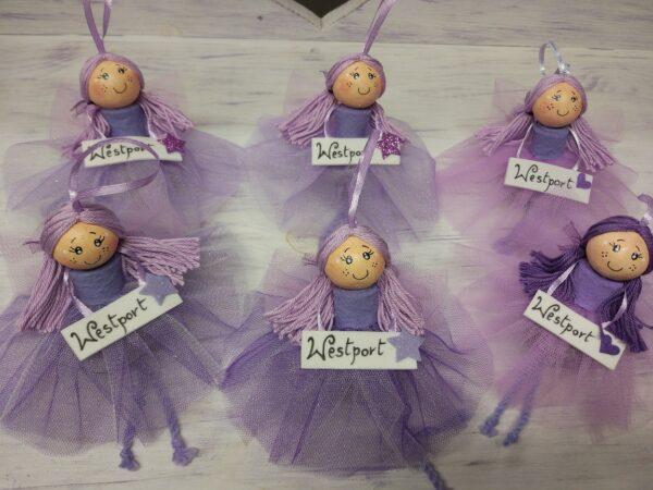 Lavender Ballerina Doll Handmade