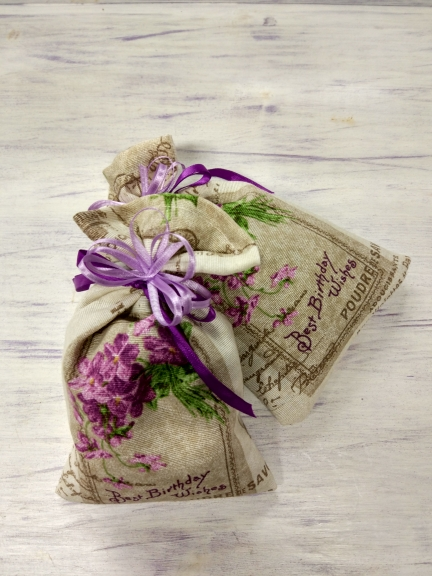 Dry French Lavender Vintage Sachet Bag