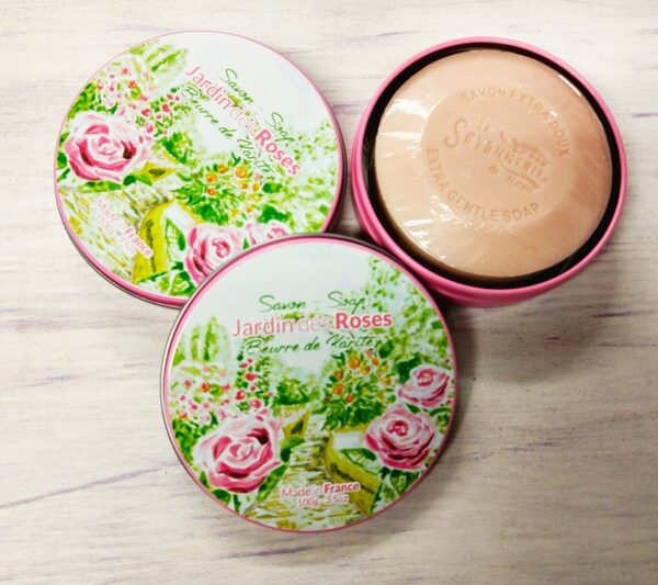 Shea Butter Rose Soap in Metal Box