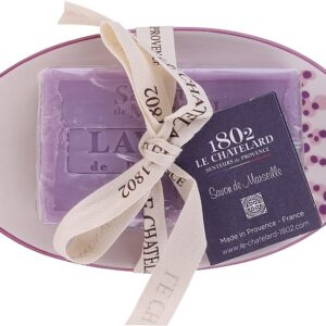 lavender soap-and-soap-dish